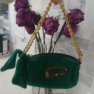 Juicy Couture barrel kelly green mini bag purse